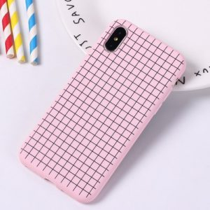 Pink checkered phone case