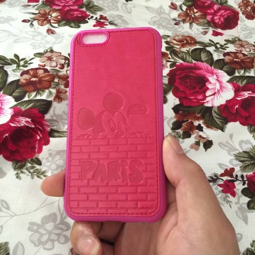 Pink mickey mouse iphone case