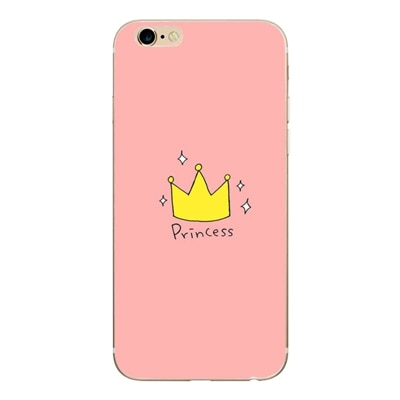 Pink princess iphone case