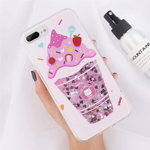 unicorn liquid iphone case