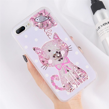 Pink Glitter Cat Phone Case