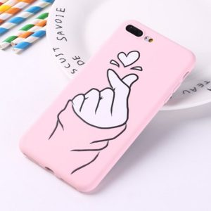Pink heart phone case