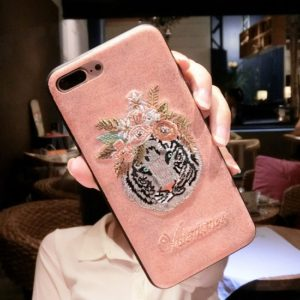 Tiger Embroidered Phone Case
