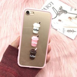 Coffee pink phone case