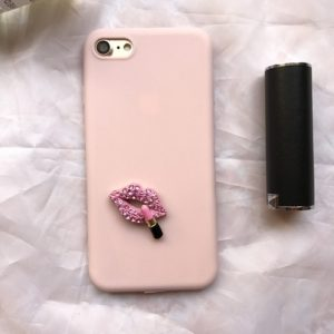 Pink lips phone case