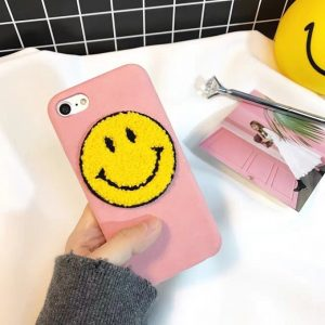 Pink Smiley Face Phone Case