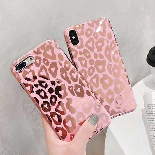 Pink leopard phone case
