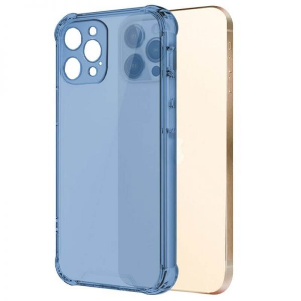 Blue Shockproof Transparent iPhone Case