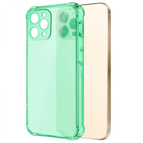 Green Shockproof Transparent iPhone Case