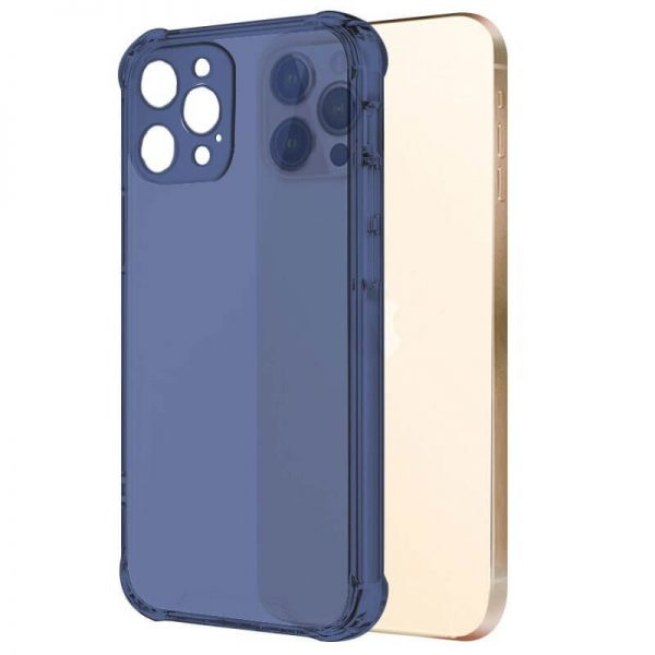 Navy Blue Shockproof Transparent iPhone Case