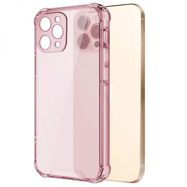 Pink Shockproof Clear iPhone Case