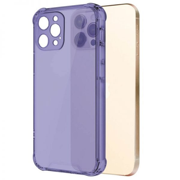 Purple Shockproof Transparent iPhone Case