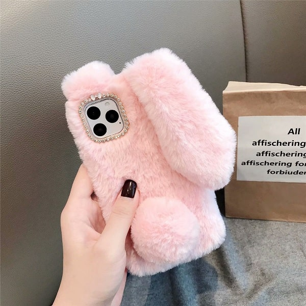 Pink Bunny Ears Phone Case