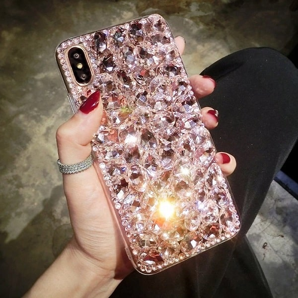 Pink Rhinestone Phone Case