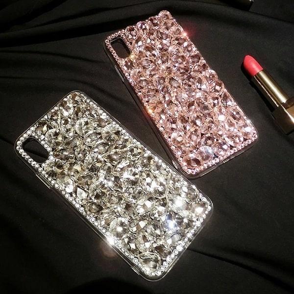 Diamond Crystal Pink Rhinestone Phone Case