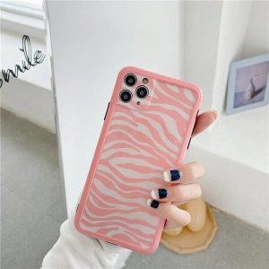 pink zebra phone case