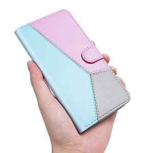 Geometric Flip Wallet Case With Card Holder