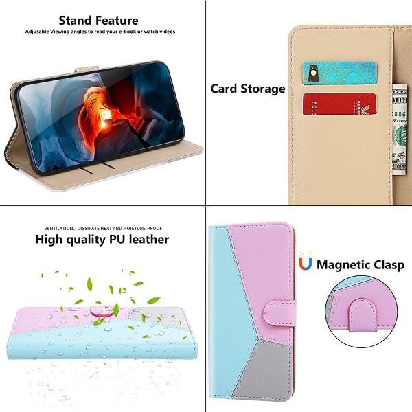 Geometric Flip Wallet Samsung Case With Card Holder