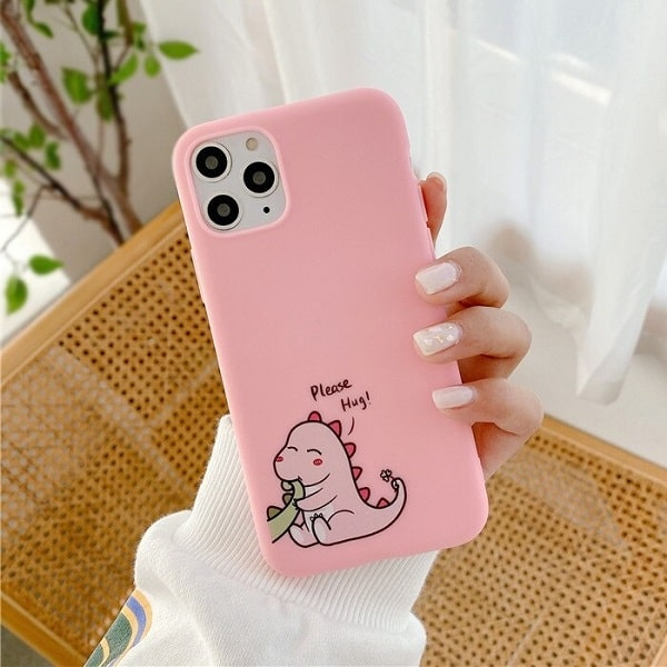 Pink Dinosaur iPhone case