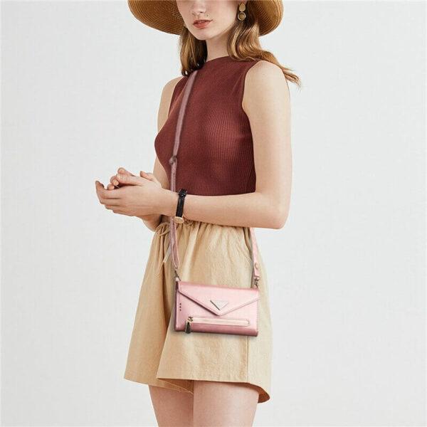 Rose Gold Leather wallet case