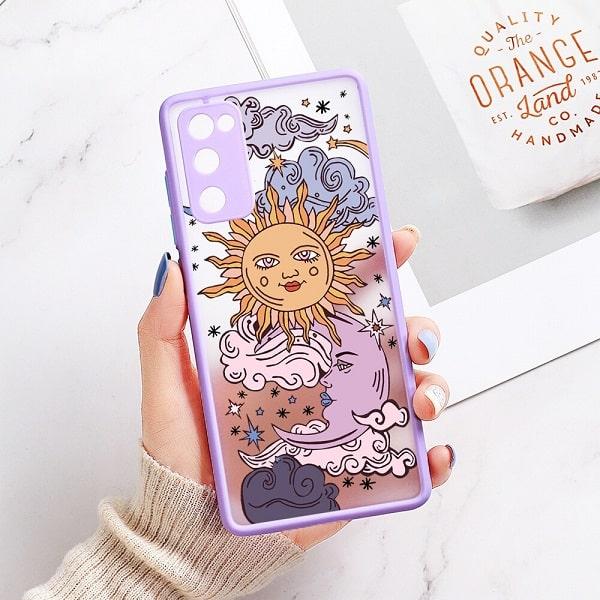 Sun and Moon Phone Case - Purple
