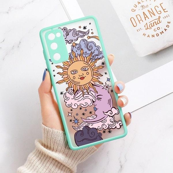 Sun and Moon Samsung Phone Case - Green