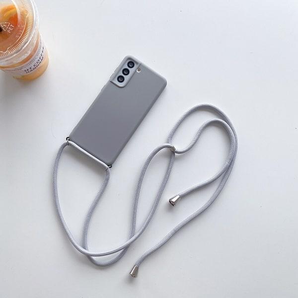 Gray Crossbody Phone Case Necklace