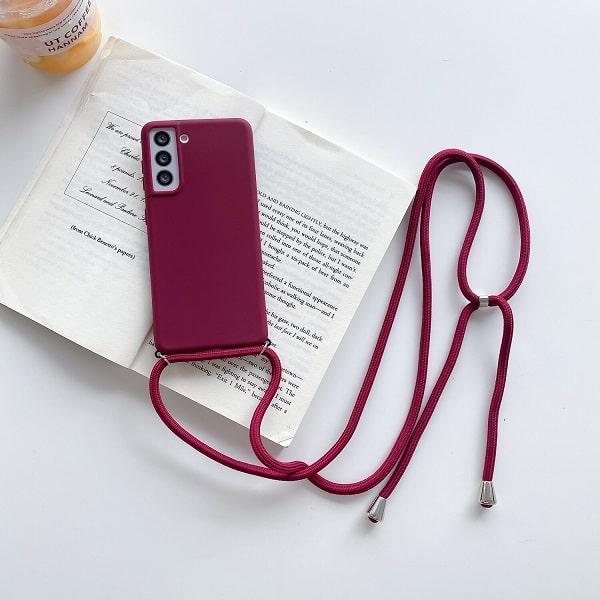 Wine Crossbody Phone Case Necklace