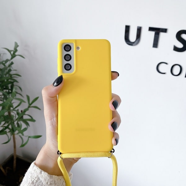 Yellow Crossbody Phone Case Necklace For Samsung S21
